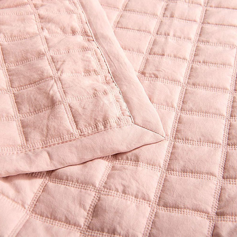 pink prewashed quilt set