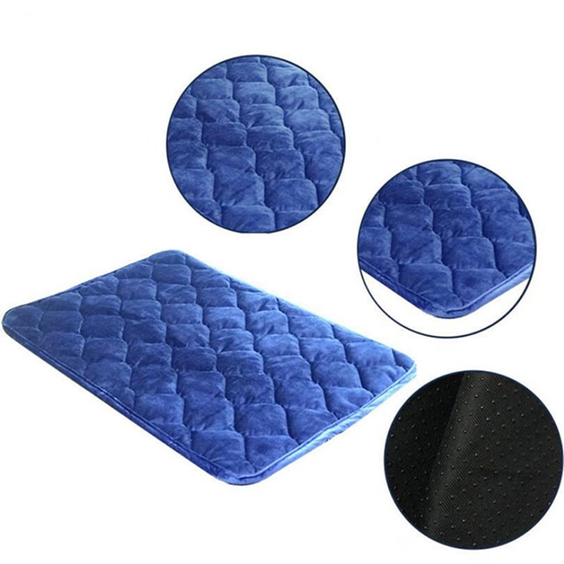 quilted flannel pet bed