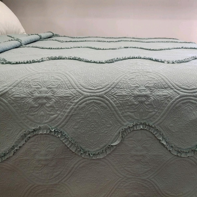 quilted covers ultrasonic ruffle bedspreads