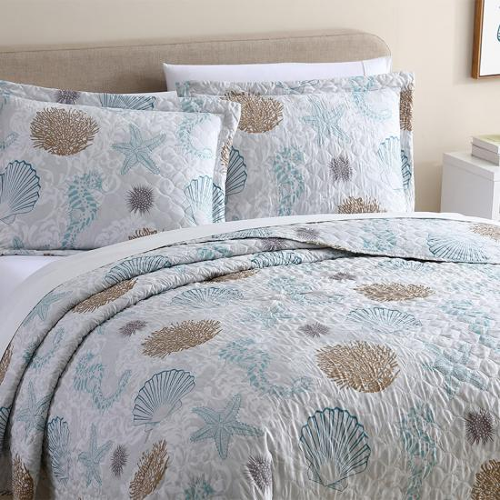 seasheel queen quilt set