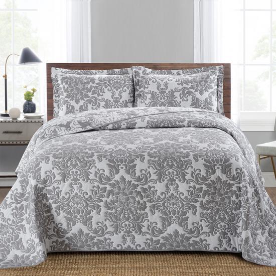 Damask Jacquard Bedspread Supplier, Damask Jacquard Bedding