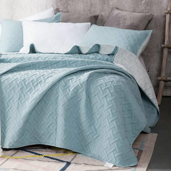 HJ Home Fashion Prewash Microfiber Embossed Quilt Set