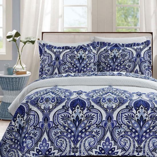 damask bedding quilted bedspreads
