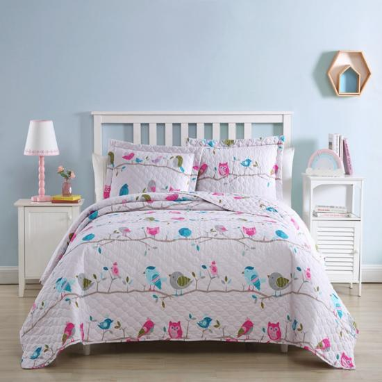 owl kids quilt set twin