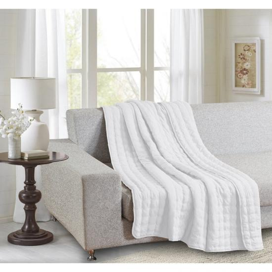 water washed solid quilted blankets throw