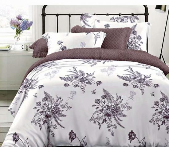 white and black printed bedding set