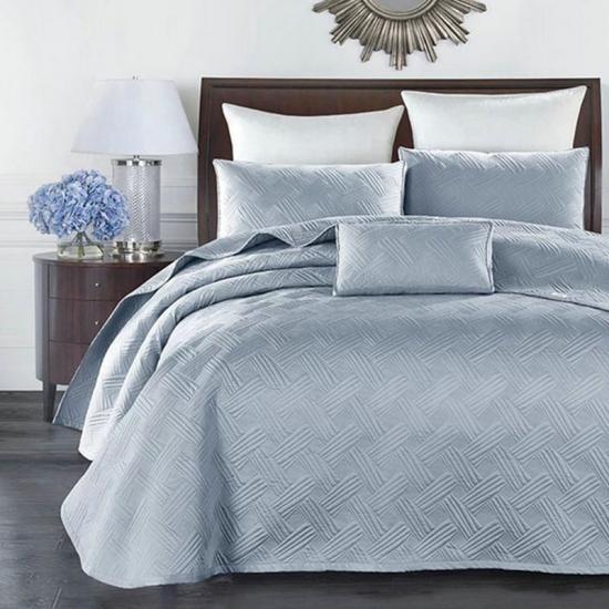 satin solid bed quilted coverlet