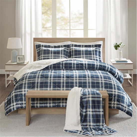 pliad printed sherpa bedding set