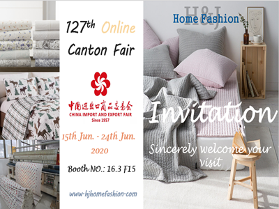 127th Online Canton Fair-China Quilt Factory, Bedspread & Bedding Set